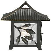 Large Leaf Design Tabletop Candle Lantern