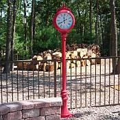 Freestanding Outdoor Clocks and Thermometers