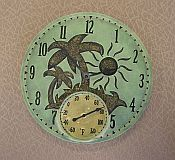 Poly Resin 14 Inch Tropical Island Clock