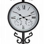 Freestanding Contemporary Outdoor Clock with Weather Vane