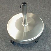 Polyresin Stainless Steel Umbrella Base with Wheels