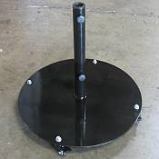 Black Umbrella Base with Wheels - 70lbs.