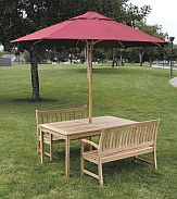 9 ft  Wood Market Ambrosia Series Patio Umbrella