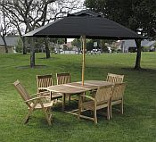 11 ft Octagonal Wood Market Ambrosia Series Patio Umbrella