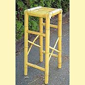 Bamboo Tiki Bar Stool - Natural