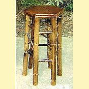 Black Speckled Bamboo Tiki Bar Stool