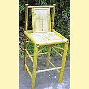Tahiti Natural Bamboo Bar Stool