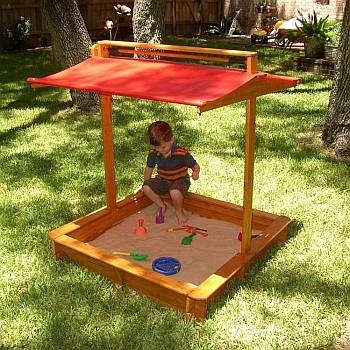 EasyStart Wood Sandbox
