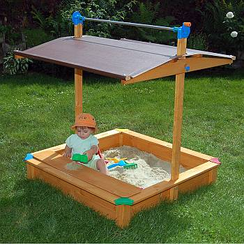 Exaco Maxi Sandbox with Toy Box