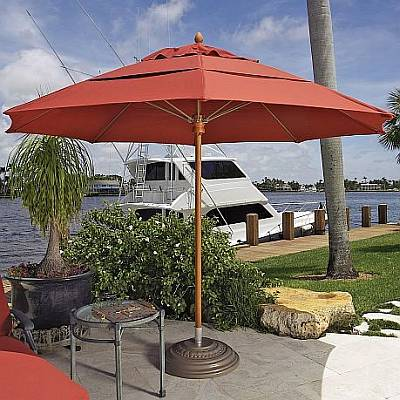 Augusta Commercial Umbrella - 6 Ft Square with Fiberglass Ribs