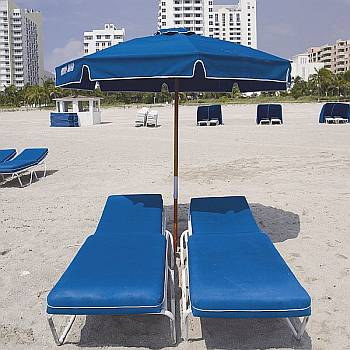 7.5 Foot Wooden Beach Umbrella