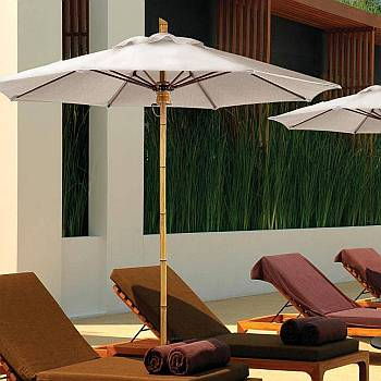 Guadua Commercial Umbrella - Fiberglass Ribs