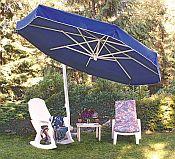 Eclipse White Frame Sidepost Umbrella