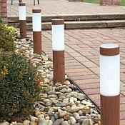 Solar Wood Grain Path Light with Stake