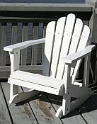Pair of Child Adirondack Rocking Chairs