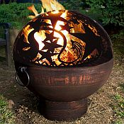 Copper Finish Firebowl with Orion Fire Dome