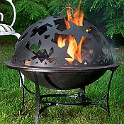 Starry Night Fire Pit and Dome Set