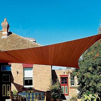 Shade Sails - Triangle Terracotta Coolaroo 9ft 10in