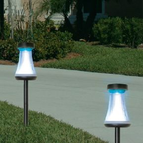 Ribbed Solar Accent Path Light