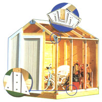 Fast Frame Storage Shed Kit Material List Material List