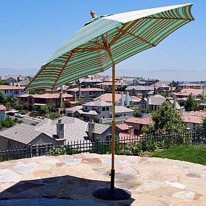 9 ft Quad Pulley Market Umbrella with Tilt