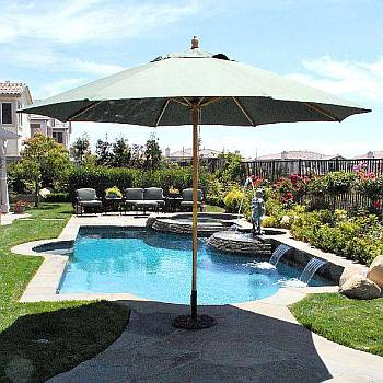 11 ft Quad Pulley Market Umbrella