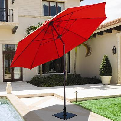 9 ft Manual Tilt<br>Aluminum Market Umbrella