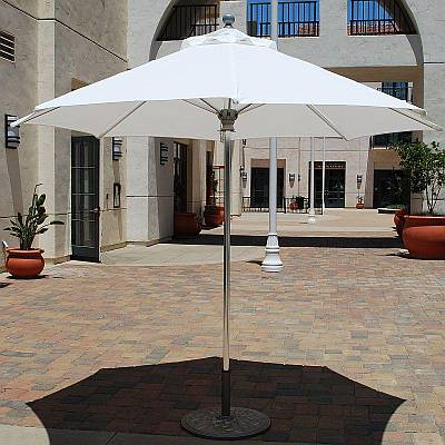 9 ft Commercial Market Umbrella with Chrome Finish
