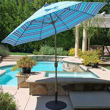 9 ft Auto Tilt Aluminum Market Umbrella - 736
