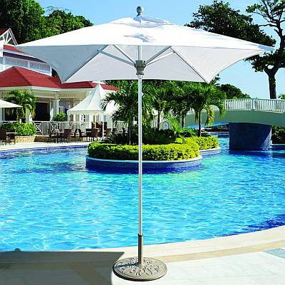 6 Foot Square Aluminum Commercial Umbrella