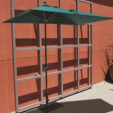 Half Wall Aluminum Umbrella