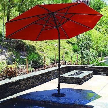 8Ft x 11Ft Oval Canopy Umbrella