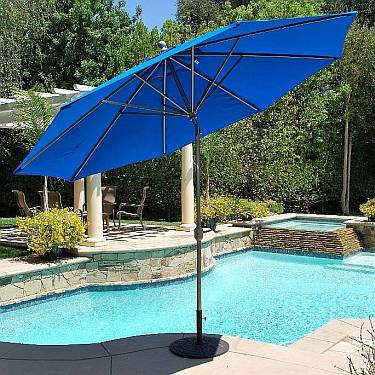 11Ft Maximum Shade Aluminum Market Umbrella - 789