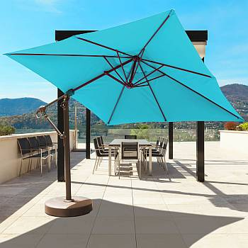 10ft x 10ft Easy Tilt and Lift Cantilever Umbrella - 897
