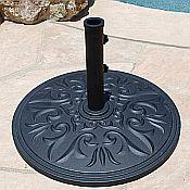 Premium Cast Aluminum Umbrella Base - 45 lbs
