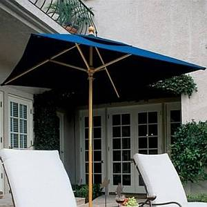 6ft Square Wooden Market Umbrella w/ SunBrella Canopy