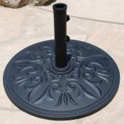 Premium Cast Aluminum Umbrella Base - 75 lbs