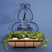 Copper Window Box Trellis