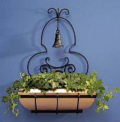 Copper Window Box Trellis