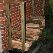 DIY Outdoor Firewood Rack Kit