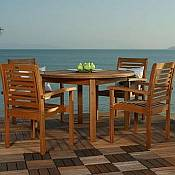 Milano Patio Table and Stacking Chairs