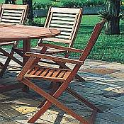 Parati Folding Chair with Arms - Pair