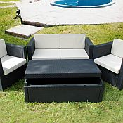Rimini 4 Piece Resin Wicker Furniture Set