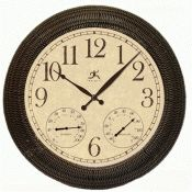 Faux Wicker Indoor/Outdoor Clock