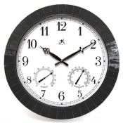 Black Tile Indoor/Outdoor Clock