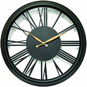 Large Metal Open Dial Outdoor Clock - 10842BK-1831