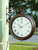 Two Sided Retro Metal Outdoor Clock
