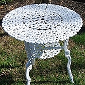 Heart Aluminum Patio Table