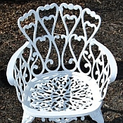 Heart Aluminum Patio Chair