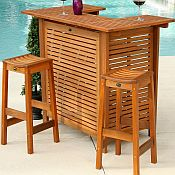 Outdoor Vegas Bar Set with Stools